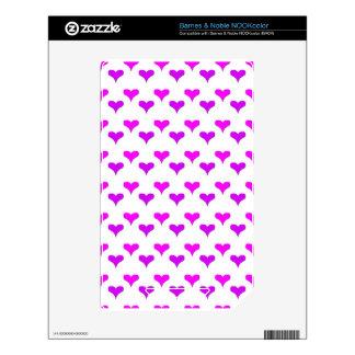 hearts pink purple skin for NOOK color