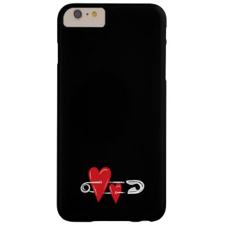 Hearts Pinned Together Barely There iPhone 6 Plus Case