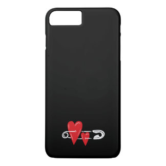 Hearts Pinned Together iPhone 7 Plus Case