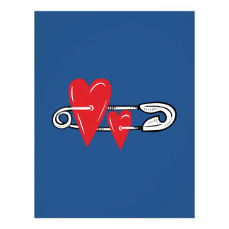 Hearts Pinned Together Letterhead