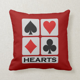 Hearts Player throw pillow