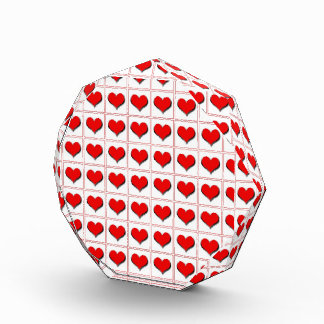 Hearts playing card suit pattern award
