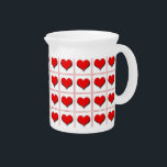 """Hearts playing card suit pattern drink pitcher<br><div class=""""desc"""">Hearts playing card suit pattern</div>"""
