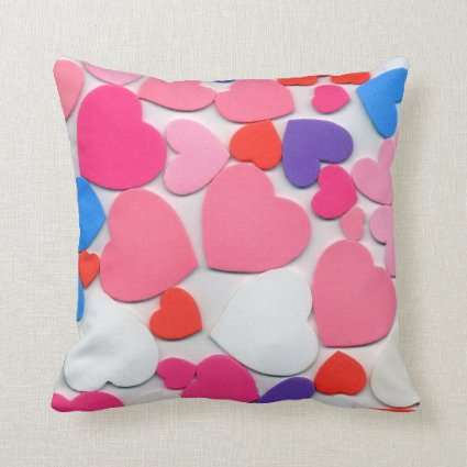 Hearts Polyester Pillow
