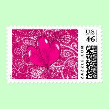 Hearts and Swirls Stamp