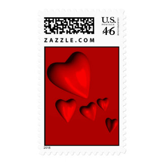 Hearts Postage