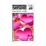 Hearts Postage Stamps