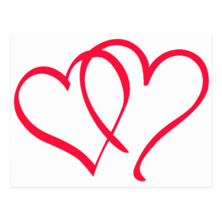 hearts postcards