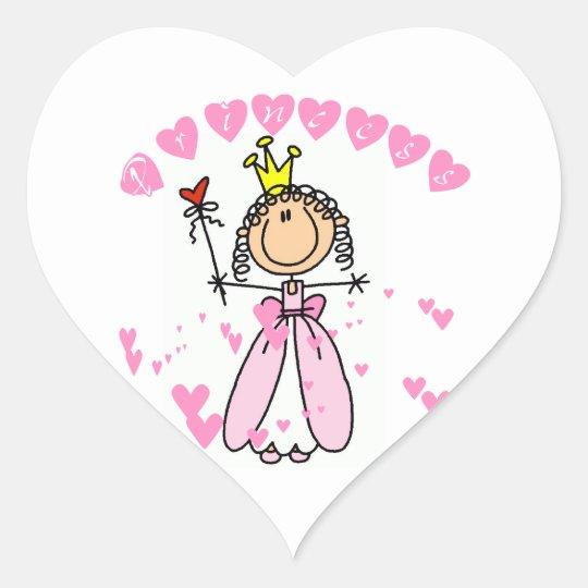 Hearts Princess Heart Sticker