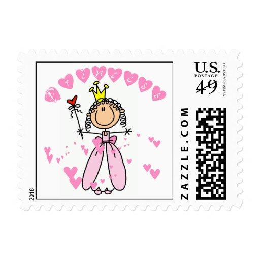 Hearts Princess Postage