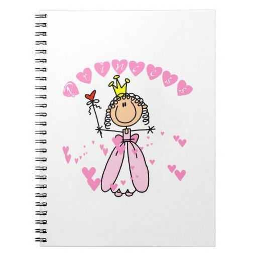 Hearts Princess Spiral Note Books