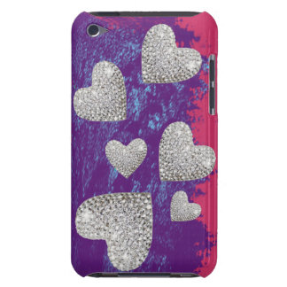 hearts print love barely there iPod cover