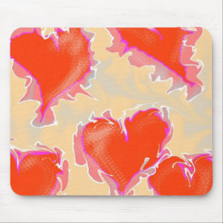 Hearts Pulsating or Vibrating Mouse Pad