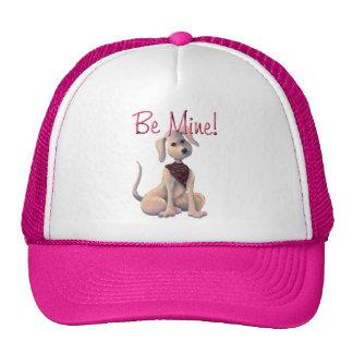 HEARTS  PUPPY BE MINE by SHARON SHARPE Trucker Hat