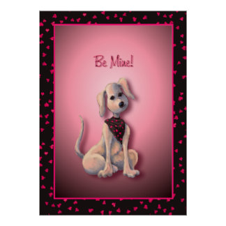 HEARTS PUPPY by SHARON SHARPE Poster