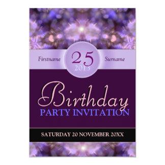 Hearts Purple Dreams Birthday Party Invitation