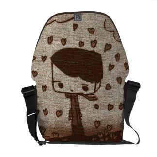 hearts rain courier bag