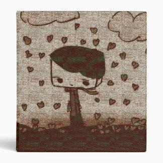 hearts rain vinyl binder