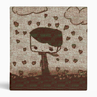 hearts rain vinyl binders