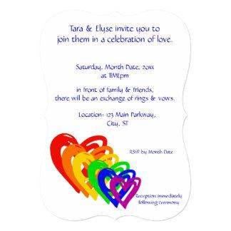 Hearts Rainbow Card