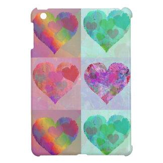 HEARTS &  RAINBOW DESIGN iPad mini case