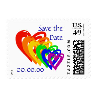 Hearts Rainbow Postage