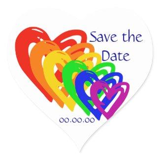 Hearts Rainbow sticker