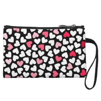 Hearts, Red And Purple - Mini Clutch Bag