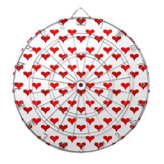 hearts red dart board