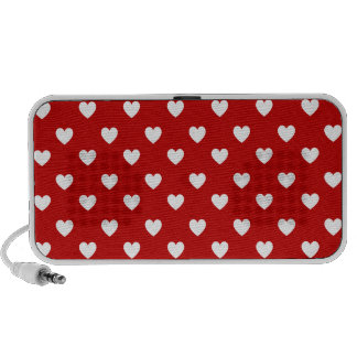 Hearts Red iPhone Speaker