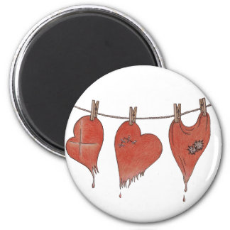 Hearts' Resuscitation 2 Inch Round Magnet