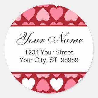 Hearts return address label (#LABL023)