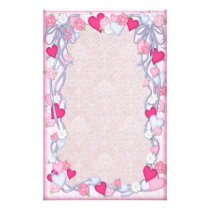 Hearts & Ribbon Romance Stationery
