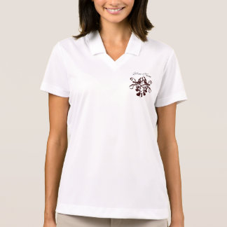 Hearts Ribbons Bows Add Your Text Wedding Party Polo Shirt