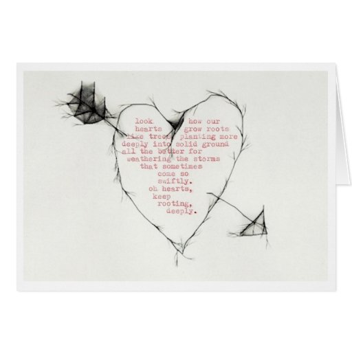 """""""hearts rooting"""" greeting cards"""