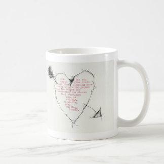 """hearts rooting"" classic white coffee mug"