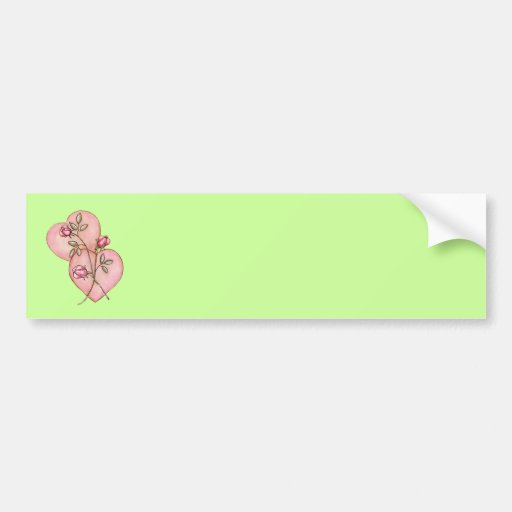 HEARTS & ROSES by SHARON SHARPE Bumper Sticker