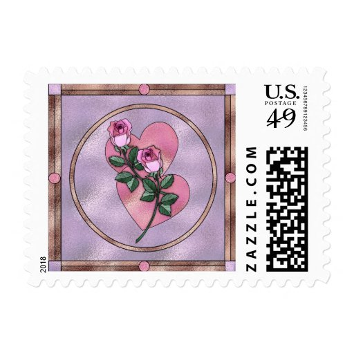Hearts & Roses Stained Glass Stamps