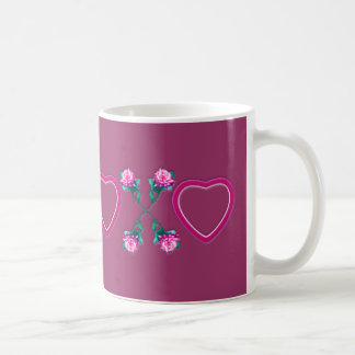 Hearts & Roses X's & O's Coffee Mug