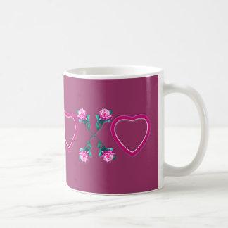 Hearts & Roses X's & O's Mugs