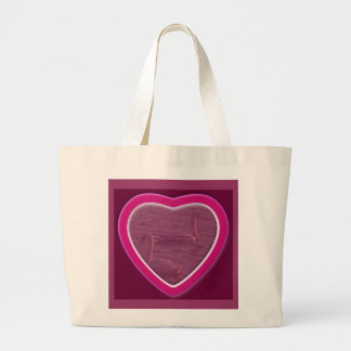Hearts & Roses X's & O's Photo Frame Canvas Bags