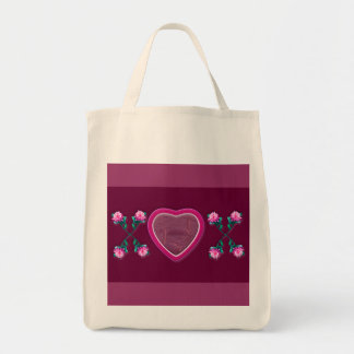 Hearts & Roses X's & O's Photo Frame Tote Bags