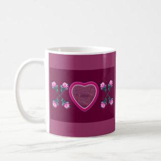Hearts & Roses X's & O's Photo Frame Coffee Mug