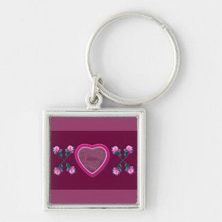 Hearts & Roses X's & O's Photo Frame Keychain