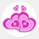 Hearts Round Sticker