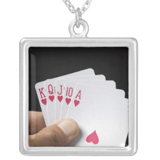 Hearts Royal Flush 2 Personalized Necklace
