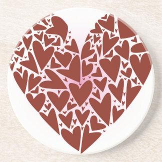 Hearts Sandstone Coaster