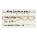 Hearts, Satin and Ribbon Double-Sided Standard Business Cards (Pack Of 100)