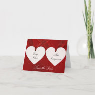 Hearts Save the Date Card