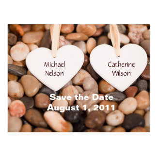 Hearts Save the Date Postcard